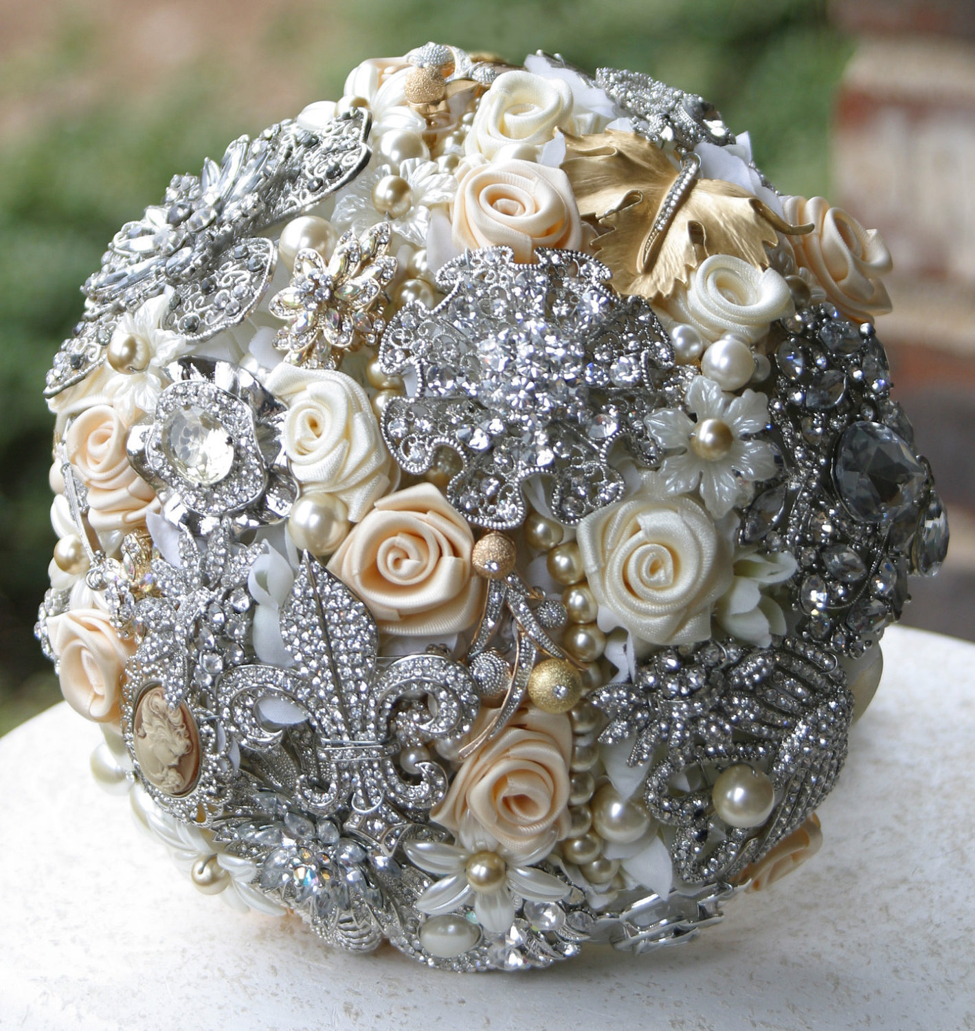 Bridal Bouquet Brooches : Brooch bouquet boutonniere ga